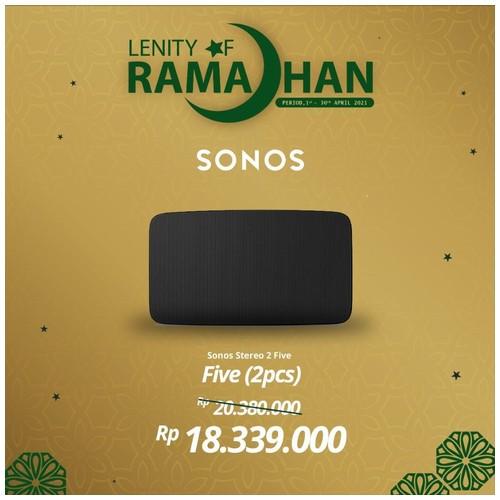 SONOS FIVE Two Set Wireless Speaker HiFi System