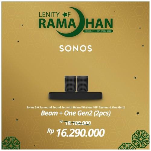 SONOS 5.0 BEAM With Two One Gen2 Wireless Speaker HiFi System