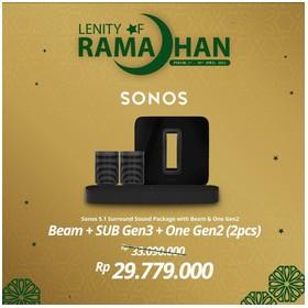 SONOS 5.1 SUB Gen3, BEAM &