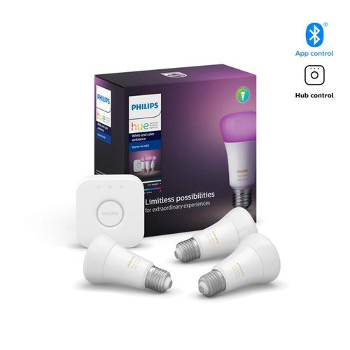 Philips Hue White and Color Ambiance Starter Kit with Bluetooth