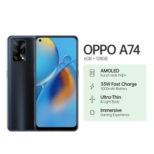 Oppo A74 (RAM 6GB/128GB) - Prism Black