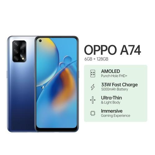 Oppo A74 (RAM 6GB/128GB) - Midnight Blue