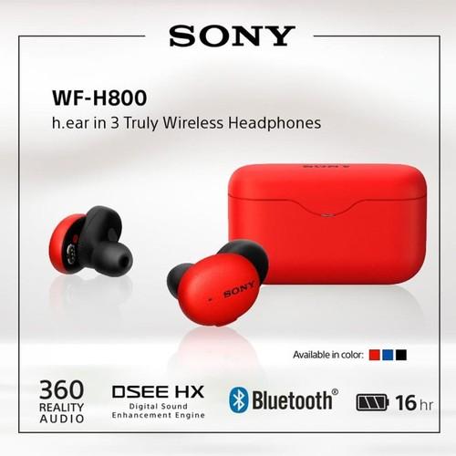 Sony Truly Wireless Headphone MDR WF-H800/R - Red