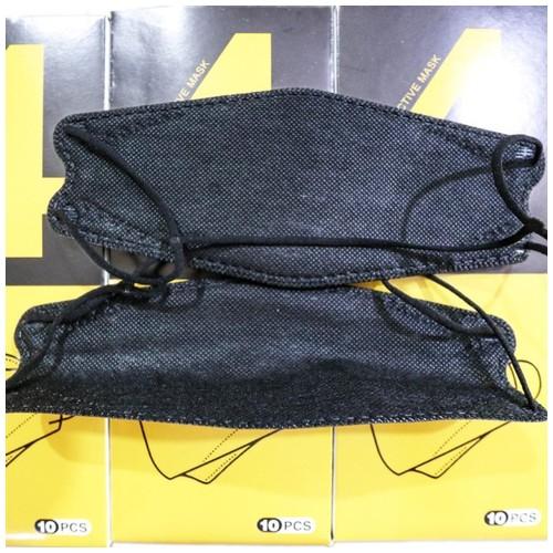 Masker HIJAB KF 94 4D isi 10 pc Black