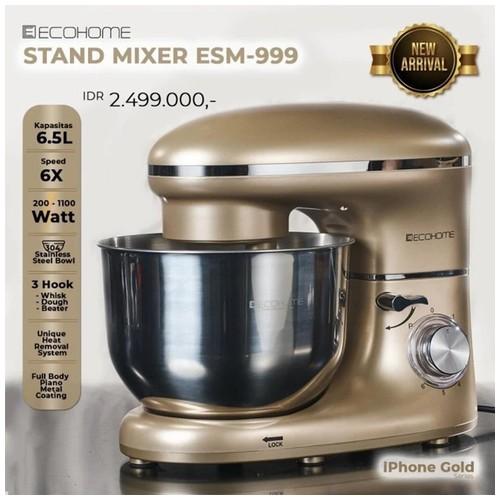 ECOHOME Stand Mixer ESM-999 Original Premium Quality - Gold