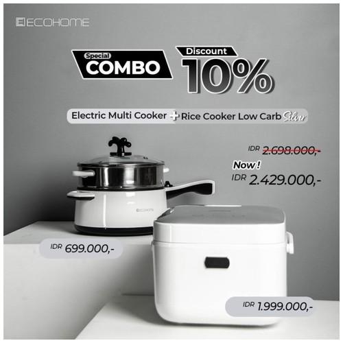 Bundling Ecohome Rice cooker low carbo + Multi Cooker Combo Bundling
