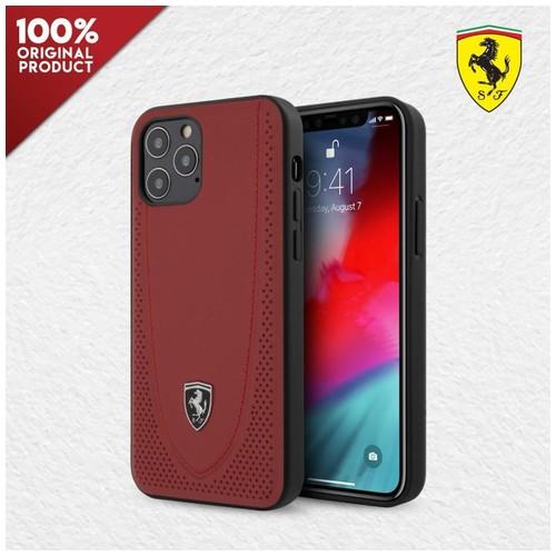 Case iPhone 12Pro Max Ferrari Off Track Stitch Line Perforated - Red