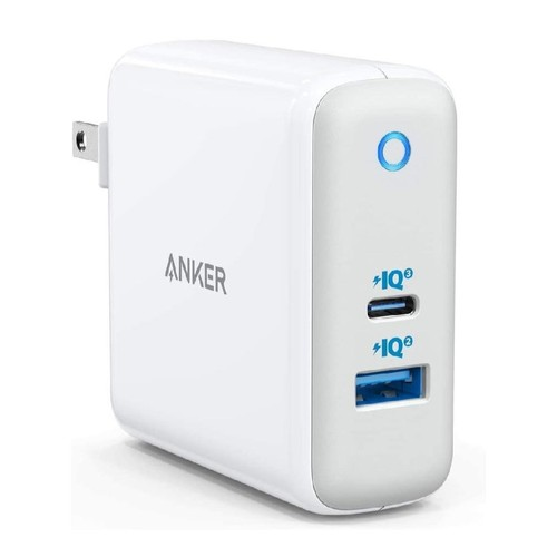 ANKER A2322 - PowerPort Plus Atom III - Dual Port Charger - 60W MAX White