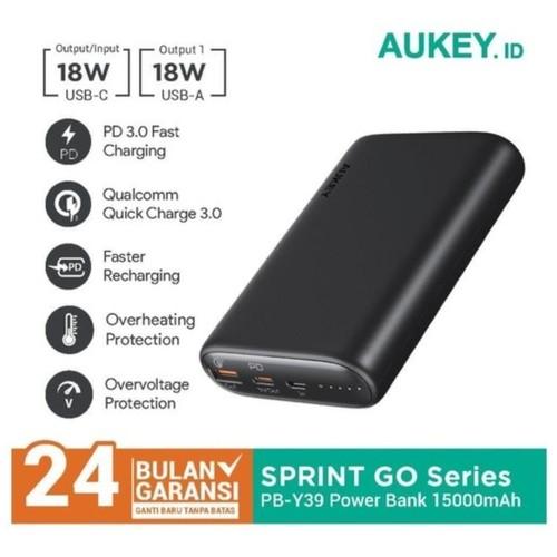 AUKEY PB-Y39 - SPRINT GO Series 15000mAh Powerbank 2-Port with 18W PD