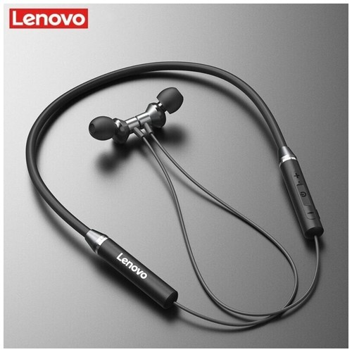 LENOVO HE05 - Magnetic Neckband IPX5 Bluetooth 5.0 Earphone Black