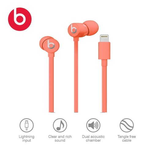 Urbeats 3, Lightning Connector, Coral