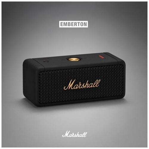 Marshall Emberton portable speaker - Black and Brass