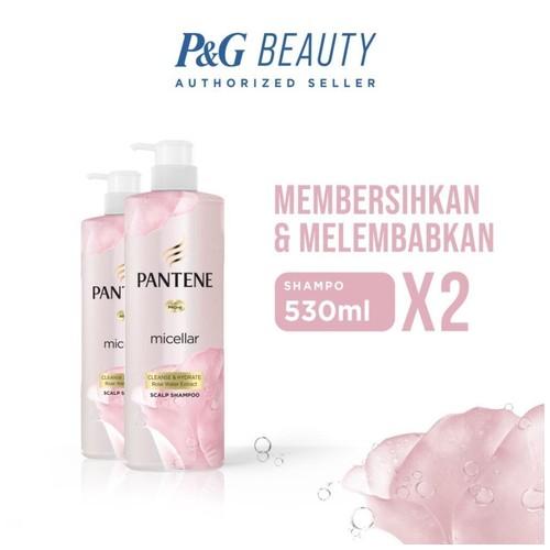 Pantene Shampoo Micellar Cleanse and Hydrate 530 ml - Paket isi 2