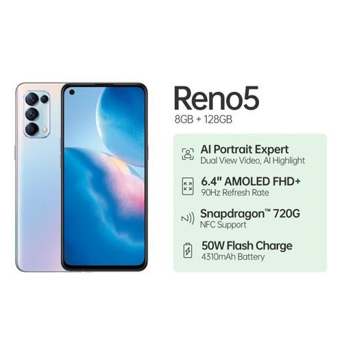 OPPO Reno5 (RAM 8GB/128GB) - Fantasy Silver