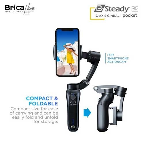 Brica B Steady 2 Pocket Gimbal - Black