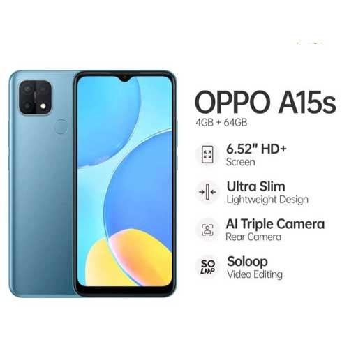OPPO A15s (RAM 4GB/64GB) - Mystery Blue