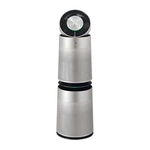 LG PuriCare 360 Air Purifier with Filter SafePlus & Allergy - Silver (Coverage 100m2)