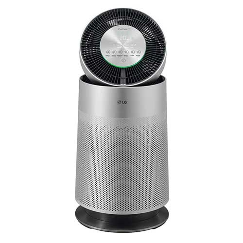 LG PuriCare 360 Air Purifier with Filter SafePlus & Allergy Care - Silver (Coverage 62m2)