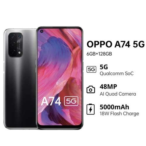 Oppo A74 5G (RAM 6GB/128GB) - Fluid Black