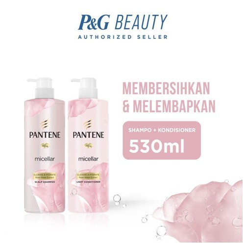 Pantene Micellar Cleanse and Hydrate 530ml - Shampoo + Conditioner