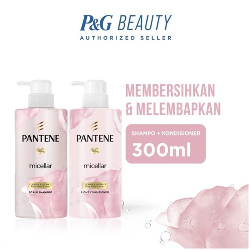 Pantene Micellar Cleanse and Hydrate 300ml - Shampoo + Conditioner