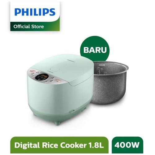 Philips – Rice Cooker Digital 1.8 Liter 10 Menu Green HD4515/85