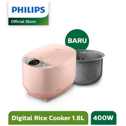 Philips – Rice Cooker Digital 1.8 Liter 10 Menu Pink HD4515/90