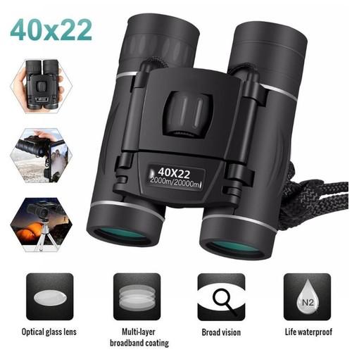 Mini Foldable HD 40x22 2000M - Long Range Powerful Binoculars