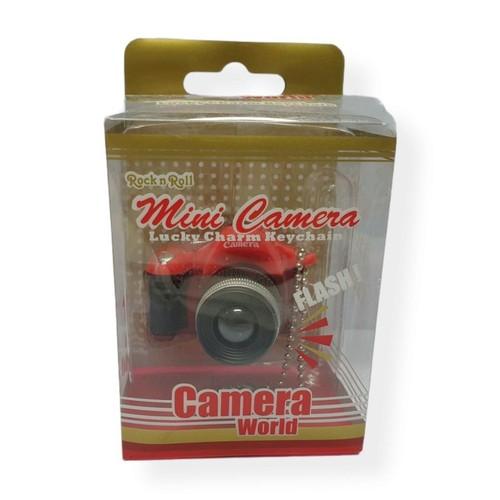 Mini Camera Lucky Charm Keychain - Red