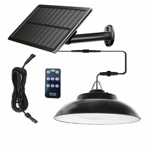 Solar Bracket Chandelier K2021 - Lampu Gantung Tenaga Solar 800 Lumens Black