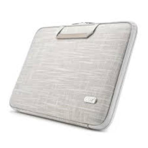 COZISTYLE Laptop Smart Sleeve Linen 12 Inch Ivory White