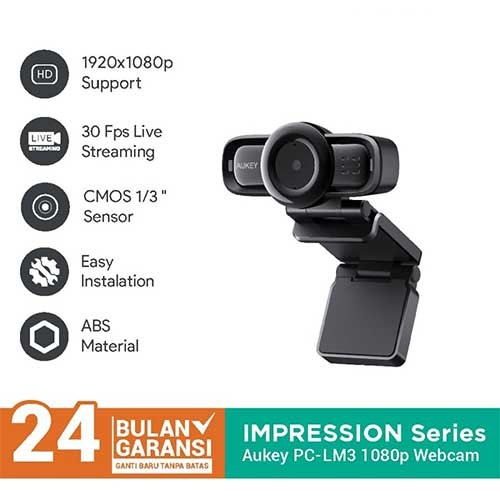 Aukey Webcam PC-LM3 1080p - 500825