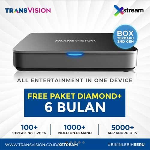 Xstream (Android Box) FREE Paket Diamond+ 6 Bulan