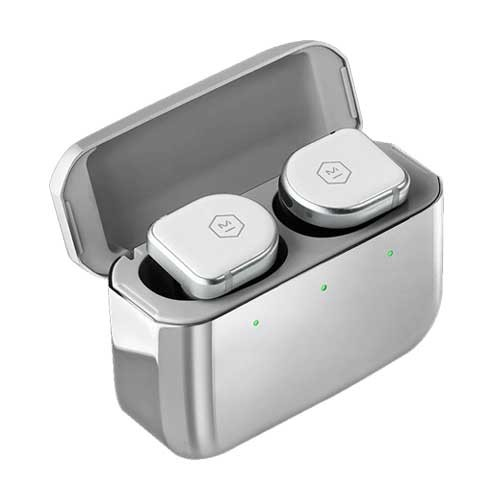 Master & Dynamic ANC True Wireless Earphones MW08 - White Ceramic / Stainless Steel Case