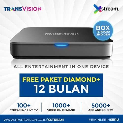 Xstream (Android Box) FREE Paket Diamond+ 12 Bulan