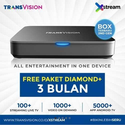 Xstream (Android Box) FREE Paket Diamond+ 3 Bulan