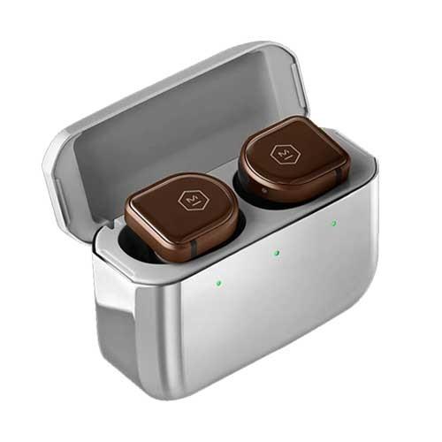 Master & Dynamic ANC True Wireless Earphones MW08 - Brown Ceramic / Stainless Steel Case
