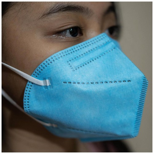 Masker MOUSON KN 95 Protective Mask isi 10pcs Blue Shining