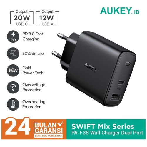 Charger Aukey PA-F3S Swift Mix 32W Power Delivery - 500708