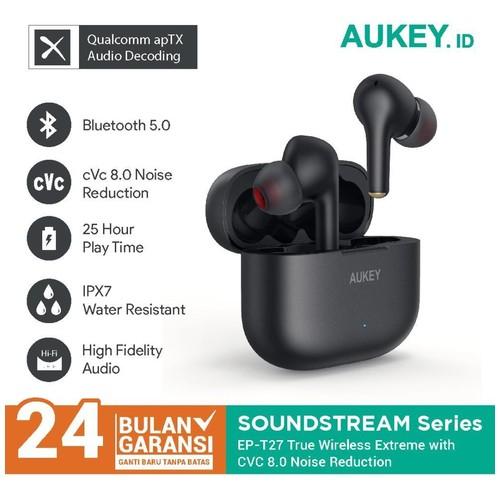 Aukey TWS EP-T27 Deep Bass with cVc Noise Reduction & aptX - 500786