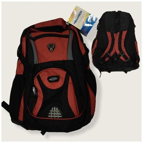 Mediatech Backpack Laptop  MNB-10 - Black Red
