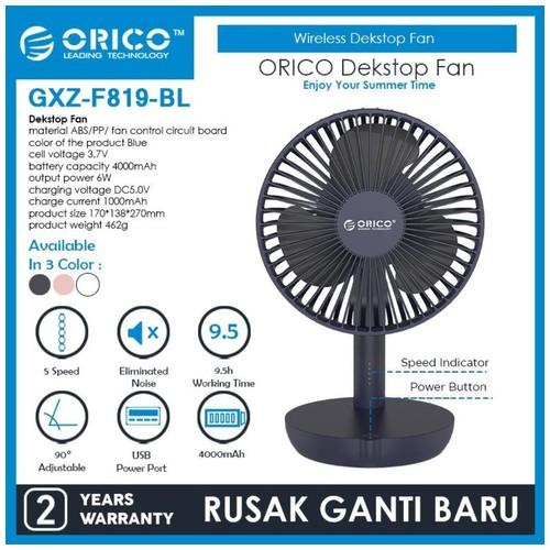 ORICO USB Desktop Fan 4000mAh - GXZ-F819 - BLUE