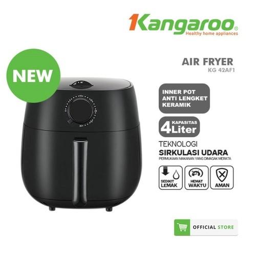 Kangaroo Air Fryer KG42AF1 4 L Tanpa Minyak Goreng Inner Pot Keramik