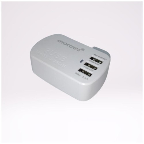 Ciyocrops Charger 3 Usb Plugs  - White