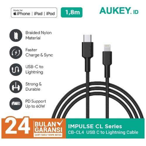 AUKEY CB-CL4 - IMPULSE Braided CL - USB-C to Lightning 1.8M