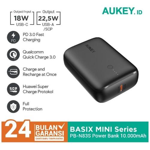 AUKEY PB-N83S - BASIX MINI 20W - 10000mAh Ultra-Compact Powerbank