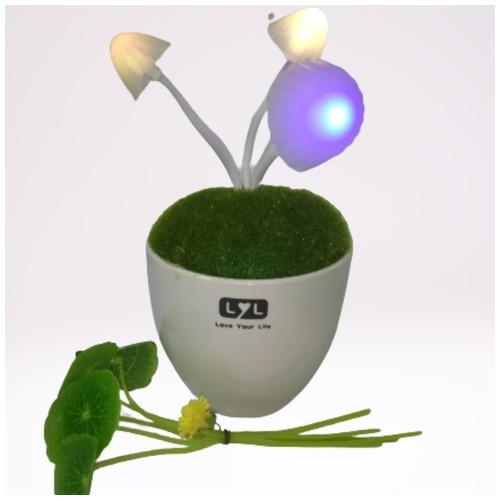 Lampu Tidur LED Berwarna Bentuk Bunga Dengan Sensor Cahaya