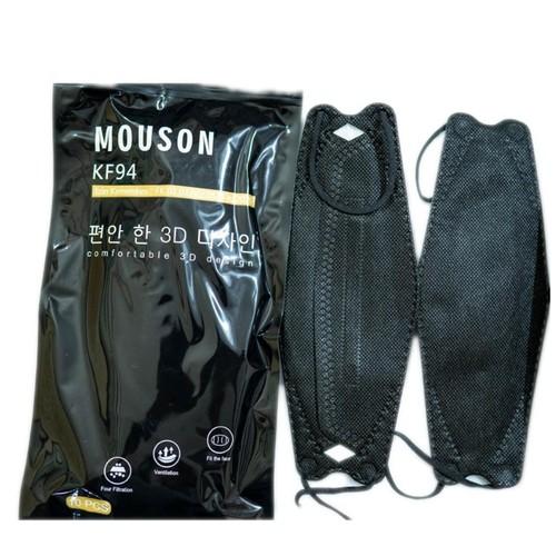 MASKER KN 94 MOUSON PROTECTIVE 4 Ply 10 pc - Black