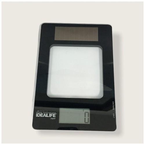 Idealife IL-213 Solar Kitchen Scale 5kg - Black