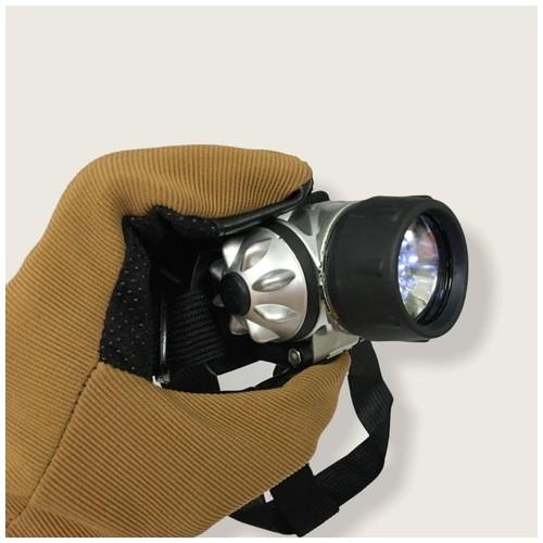 Senter Kepala 7-LED - Silver